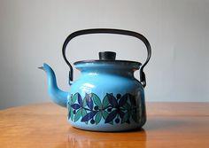 finel blue enamel teapot by esteri tomula
