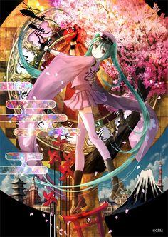 hatsune miku | vocaloid | by fuji choko