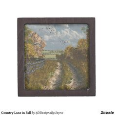 Country Lane in Fall Gift Box