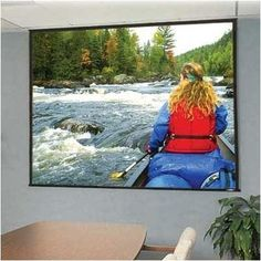 """Glass Beaded: Access/Series E Electric Screen With Quiet Motor - HDTV 92"""" diagonal by Draper. $1601.45. 104269Q Features: -Now available in 16:10 and 15:9 laptop presentation formats.-Install an Access case first and the screen later..-Motor-in-roller assures quiet and smooth operation..-Warranted for one year against defects in materials and workmanship.. Options: -Depending on surface, available in sizes through 12' x 12' and 200'' NTSC..-Custom sizes available.."""