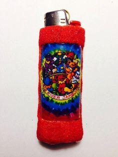 Grateful Dead   handmade Bic Lighter case by LotLighters on Etsy