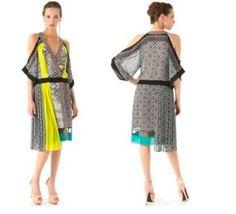 *NEW* BCBG RUNWAY Black Talc Combo MAGDA Color-Blocked Dress S $458 IQI6S061 #BCBGMaxAzriaRunway