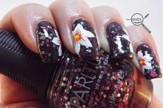 Mikrosvet by Ellen: NAIL ART: White flower with Beyond White Flowers, Nail Art, Nails, Painting, Beauty, Finger Nails, Ongles, Painting Art, Nail