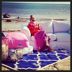 Janie taking a quick break during our Lilly Pulitzer Summer 2013 Catalog Shoot