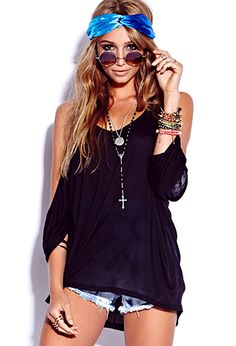 Semi-Sheer Cutout Top - Forever 21 - $15.80