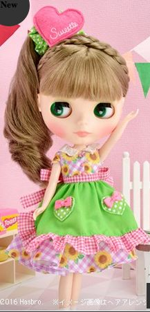 "Neo Blythe ""Henrietta's Home Party"" with medium to light ash brown hair."