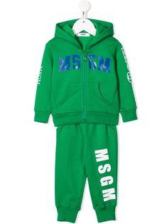 Shop Msgm Babies' Logo Tracksuit Set In Green from stores. Green cotton logo tracksuit set from MSGM Kids. Msgm Kids, Tracksuit Set, Kids Logo, Cotton Logo, Kids Fashion, Fashion Design, Green Cotton, Baby Design, Adidas Jacket