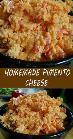 Homemade Pimento Cheese, Pimento Cheese Recipes, Pimento Cheese Recipe Without Cream Cheese, Southern Recipes, Amish Recipes, Yummy Recipes, Sandwich Recipes, Appetizer Recipes, Kitchen Recipes