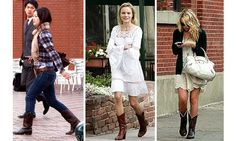Three different looks for cowboy boots