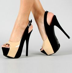 "Everybody needs a sexy pair of two tone heels. If you ever take a look back to the 1980's which now everybody considered ""vintage"" every woman had how a pair of two tone heels....can we say Chiq"