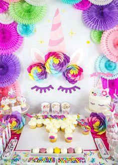 Unicorns Birthday Party Ideas | Photo 1 of 14 | Catch My Party