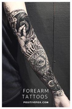 Forearm Tattoo Ideas - Forearm Tattoo Designs with Meaning - sleeve - tattoos Hand Tattoos, Tattoos Bein, Forarm Tattoos, Body Art Tattoos, Tattos, Maori Tattoos, Polynesian Tattoos, Tattoo Designs And Meanings, Tattoo Sleeve Designs