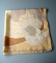 Vintage Vera Vinal / Silk Scarf - Abstract Flower