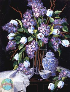 Dimensions - Lilacs and Lace - Cross Stitch World