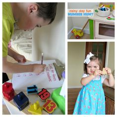 Rainy Day Activities for Children *Bookmarking these kids' craft and play ideas from Melissa & Doug. This rainy day number hunt educational activity is EASY and fun.