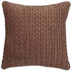 Canopy Cable Plush Decorative Pillow, Chocolate Chip