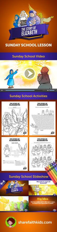 Luke 1 The Story Of Elizabeth Sunday School Lessons For Kids In