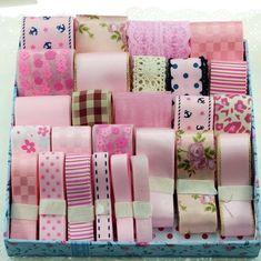 Mix Pink Ribbon Set Material Printed Grosgrain Ribbon and Ribbon Embroidery for Handmade Ribbons Set 28 Meters Ribbon Hair Bows, Diy Hair Bows, Diy Ribbon, Lace Ribbon, Fabric Ribbon, Ribbon Embroidery, Grosgrain Ribbon, Ribbon Flower, Ribbon Colors