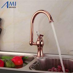 "61.20$  Watch now - http://alib93.worldwells.pw/go.php?t=32336745952 - ""14"""" Bathroom Brass Basin Faucets Swivel Kitchen Sink Faucet Crane Mixer Tap 9898SR"""