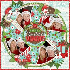 Used the following from the Sweet Shoppe Template: Christmas Single 24 - Sweet Treats by Cindy Schneider Celebrating Christmas: Traditional by DSI #memoriesscrapbook
