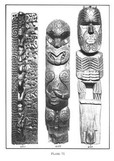 Journal of the Polynesian Society: No. The Oldman Collection Of Maori Artefacts, P Tiki Pole, Polynesian People, Maori Patterns, Vintage Tiki, Maori Art, Bone Carving, New Zealand, Ohm Tattoo, Culture