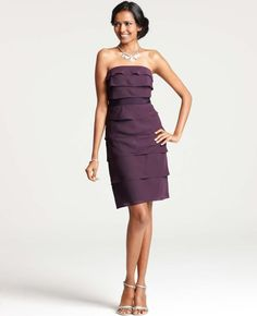 Tiered Strapless Dress Anne Taylor $199.99