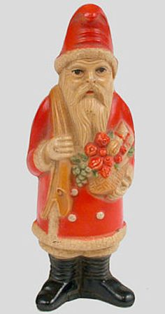 viscoloid celluloid santa...always very detailed painting front and back