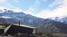 Origami-like alpine cabin brings contemporary style to Chile's mountains
