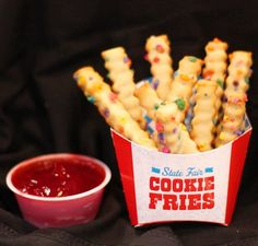 State Fair Treats, a state-fair-inspired restaurant opening at a Walmart in Plano, Texas, is changing the cookie and fried-food game forever.  Opening next week, the restaurant will be serving treats like fried Pop-Tarts and funnel cake fries, the Dallas News reports. The cutest of them all that you're going to be obsessed with though? Cookie fries. COOKIE FRIES!!  If this doesn't make you feel ridiculously happy inside, you're probably a liar.