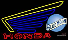 Blue Moon Honda Motorcycles Gold Wing Real Neon Glass Tube Neon Sign,Affordable and durable,Made in USA,if you want to get it ,please click the visit button or go to my website,you can get everything neon from us. based in CA USA, free shipping and 1 year warranty , 24/7 service