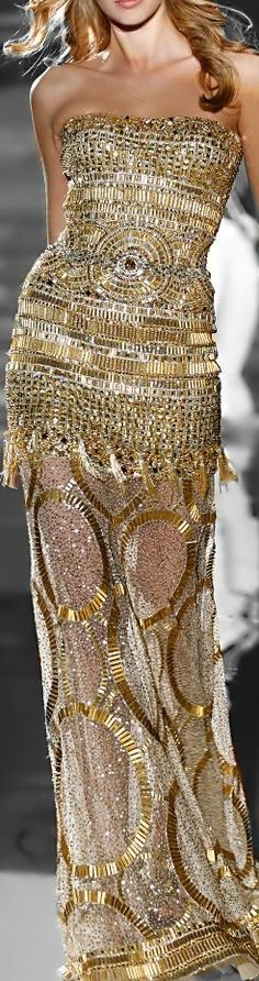 "chasingrainbowsforever: "" Zuhair Murad Couture Spring/Summer 2011 "" Rewind and Remix ~ Gold and Silver Fashion"
