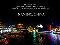 Survival kit for those who plan to travel to Nanjing, China