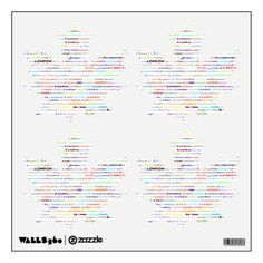 London Text Design II Wall Decals Maple Leaves