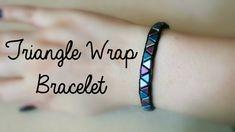 DIY Wrap Bracelet using Khéops Par Puca Triangle Beads //Jewellery Makin...