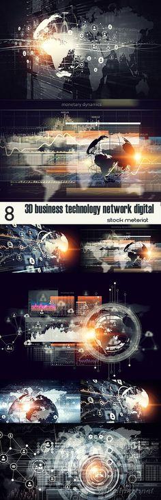 3D business technology network digital