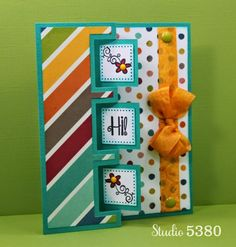 Triple Flip card using  Triple Square Flip its Die by Sizzix