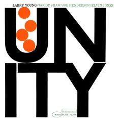 """50 years ago on November 10, 1965, organist Larry Young headed into Rudy Van Gelder's studio with saxophonist Joe Henderson, trumpeter Woody Shaw & drummer Elvin Jones to record his magnum opus """"Unity."""" The album is a Blue Note essential, not only for the music but also for the cover which is one of Reid Miles' most iconic graphic designs. Pick up the vinyl reissue: http://smarturl.it/Unity75"""