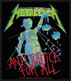 Official Patch. Licensed product. And Justice For All, Metallica, Patches, The Unit