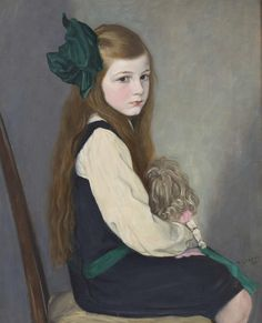 ON HER BEST BEHAVIOUR, 1916 by William Strang RA (Scottish 1859-1921) 76CM X 61CM (30IN X 24IN)