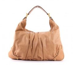 Gucci Large JOCKEY Hobo Leather Tan Beige Shoulder Bag