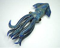 Squid pipe by Kravin Glass