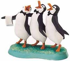 mary poppins penguins statue. Characters from the book/movie as a decorative figure.