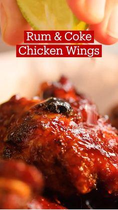 Chicken Snacks, Chicken Wing Recipes, Meat Recipes, Appetizer Recipes, Coke Chicken, Cooking Recipes, Chicken Wings, Appetizers, Pollo Frito Estilo Kentucky