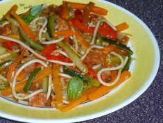 Spaghettis au chorizo Chorizo, Chez Vanda, Weigh Watchers, Menu, Beignets, Caprese Salad, Thai Red Curry, Ethnic Recipes, Articles