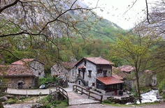 Old BULNES in the Picos de Europa mountains: base camp