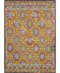 "Turkish Kilim Rug-model-cc1679 CC1679-Design# 1214, Size- 5'-5"" X 7'-5"" #livingroom #diy #handmade #best #cleaning #modern #design #runner #print #carpet #rugs #flooring #office #home #decoration #bedroom"