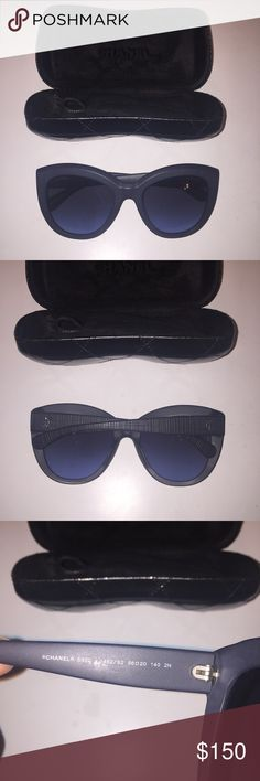 Chanel Sunglasses Chanel Sunglasses! Really cute style #5332 in navy. Never been worn - comes with case but no box. Great deal! CHANEL Accessories Sunglasses