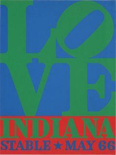 Love, Indiana Stable May 66  Robert Indiana  1966
