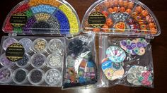 joblot of bead kits beads lampwork seed 4mm clear out clearance about 900g kits