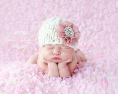 Newborn Hat  Glamour Beanie line 'AMOR'  knit baby by Knitbysarah, $25.00